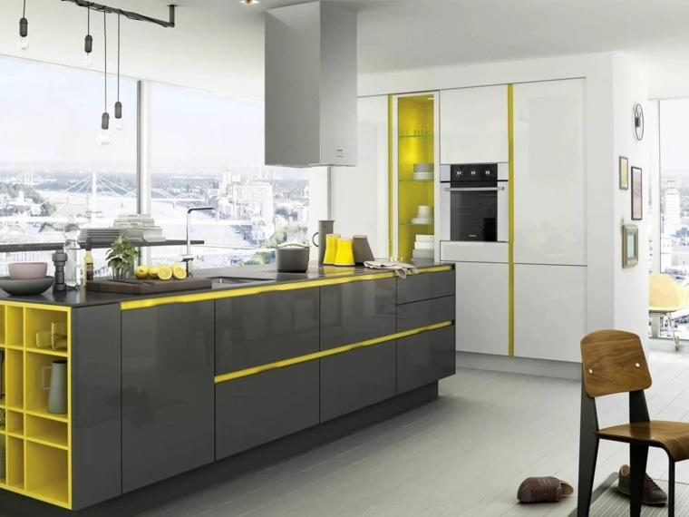 isla-gris-detalles-amarillos-estilo