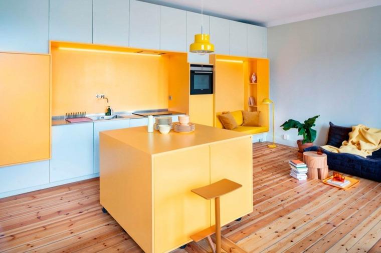 isla-pequena-amarilla-cocina-ideas