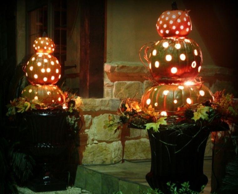 la tradición calabazas iluminadas