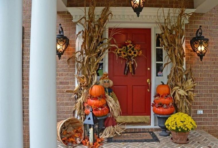 la tradición decoracion entrada otoño