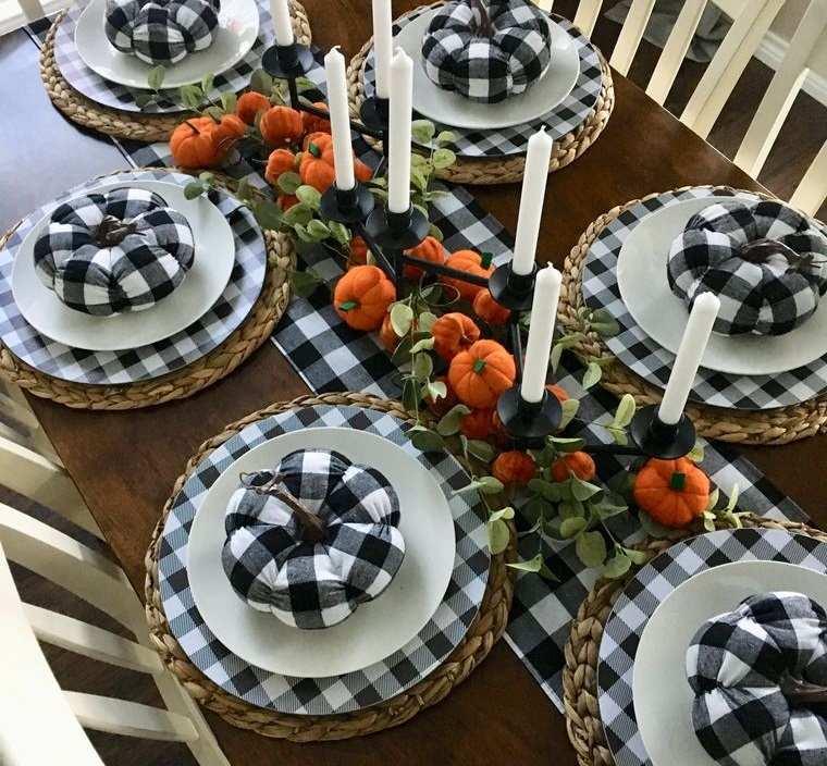 la tradición decoracion mesa otoño