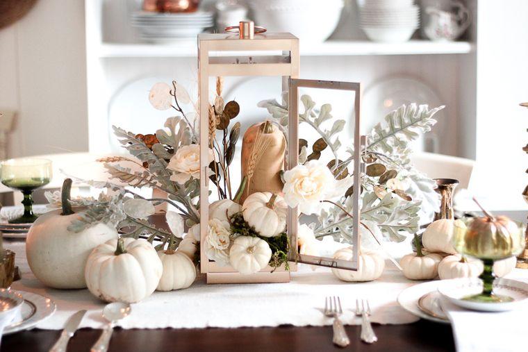 la tradición decoracion otoño blanco