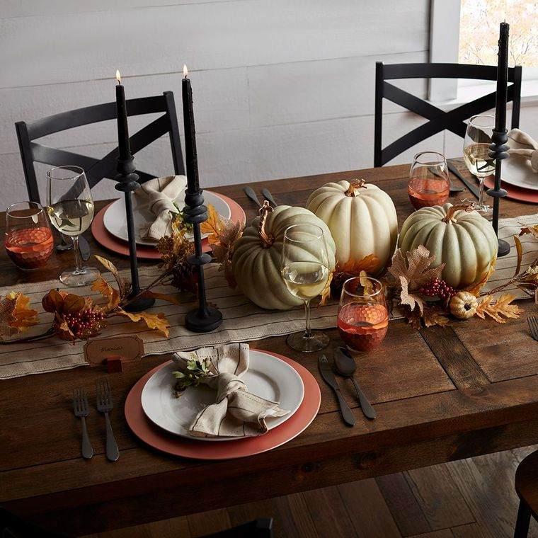 la tradición mesa otoño