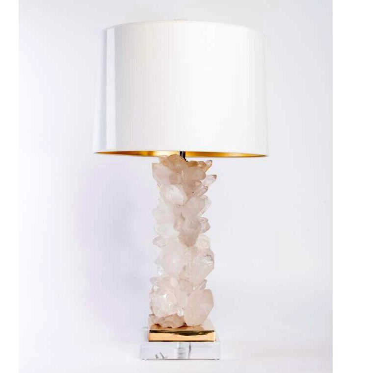 lámparas de mesa cuarzo blanco