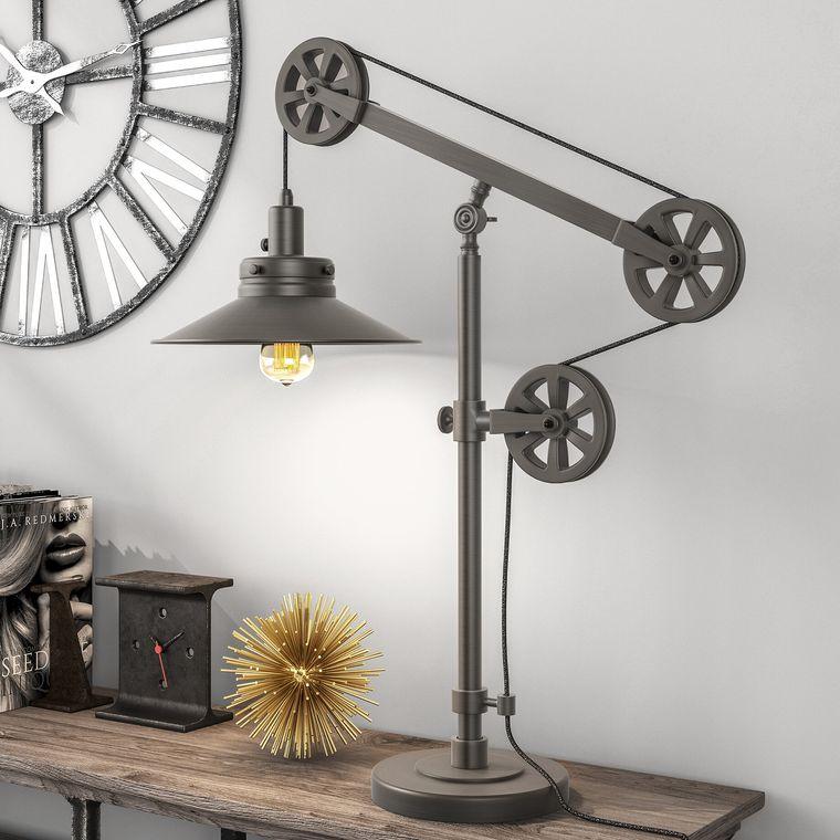 lámparas de mesa de metal