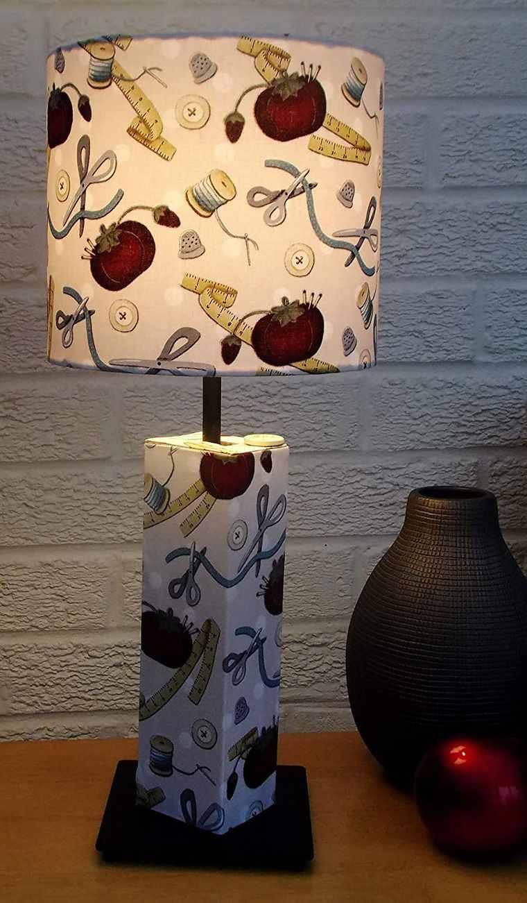 lámparas de mesa diseño costura
