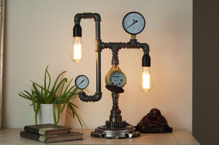 lámparas de mesa diseño industrial