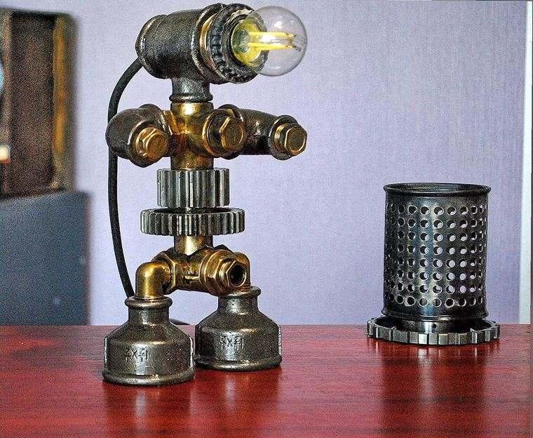 lámparas de mesa industrial