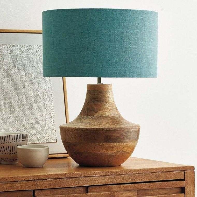 lámparas de mesa madera