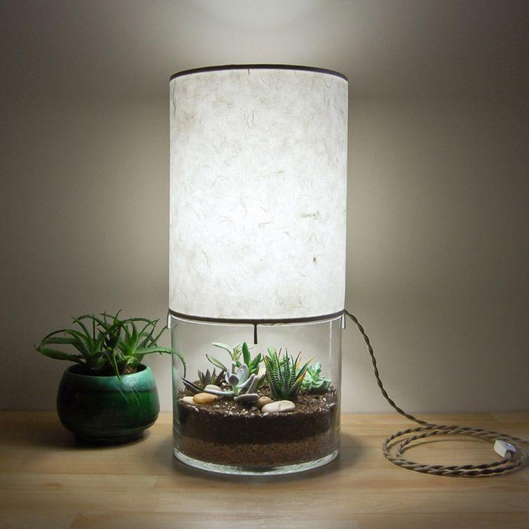 lámparas de mesa terrario