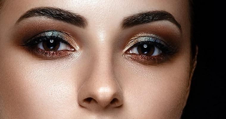 maquillaje de día noche-sombras-metalicas-estilo