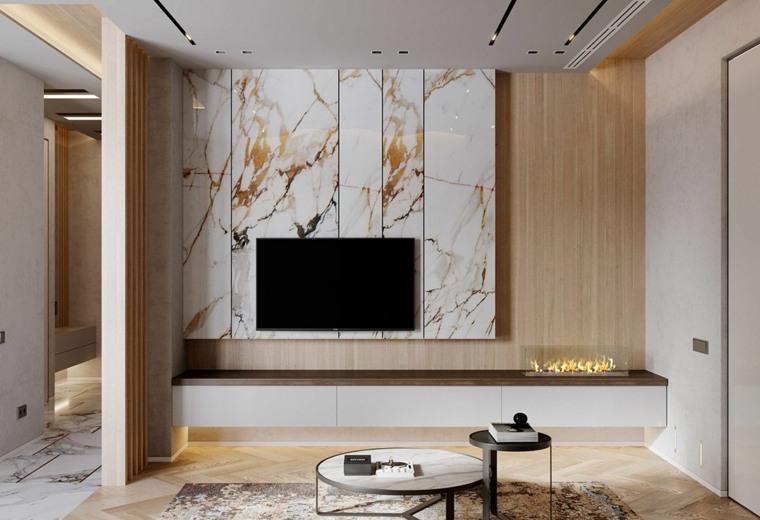marmol-para interiores-combinar-madera