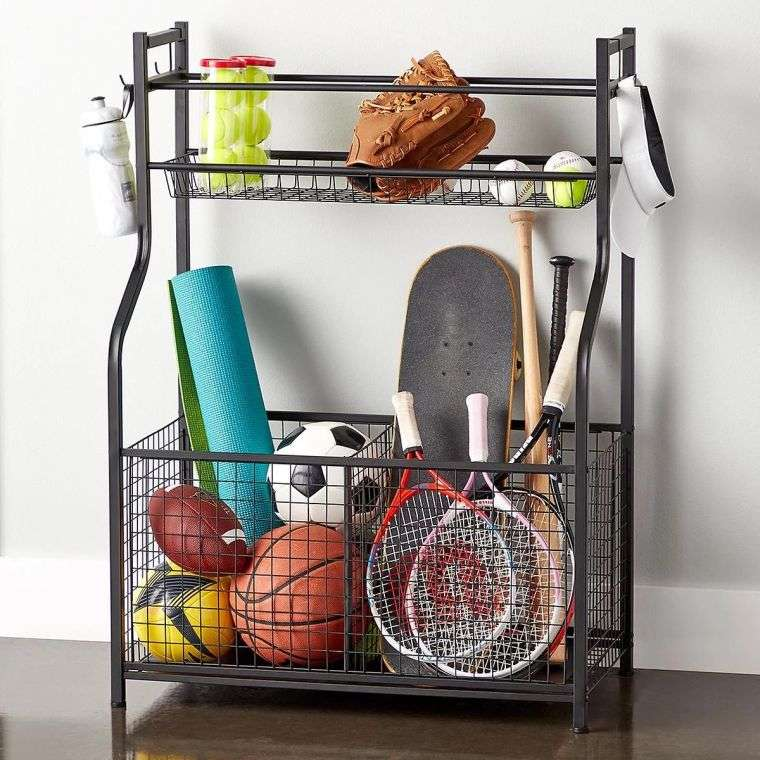 organize garage-shelving-metal