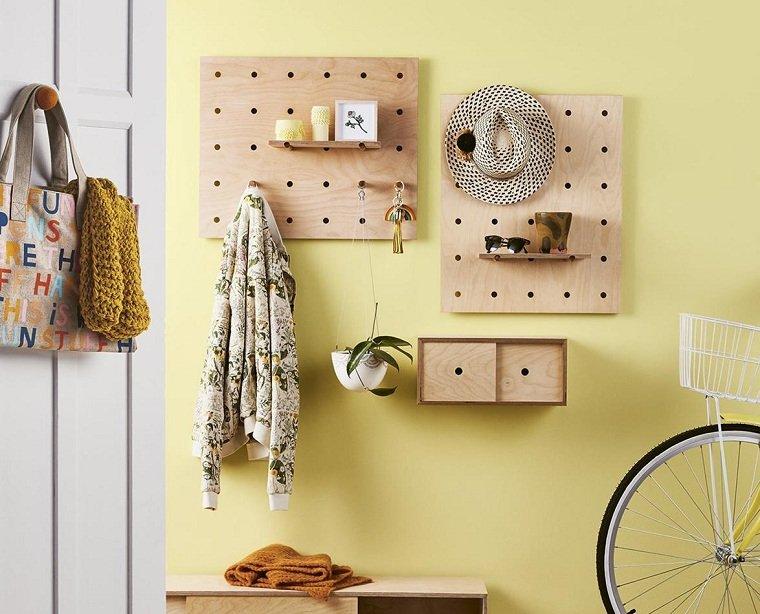 pared-amarilla-garaje-ideas