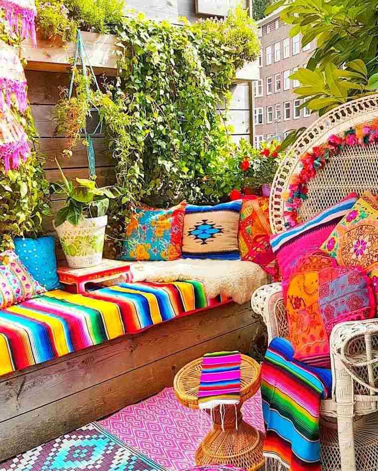 porches con encanto colores brillantes