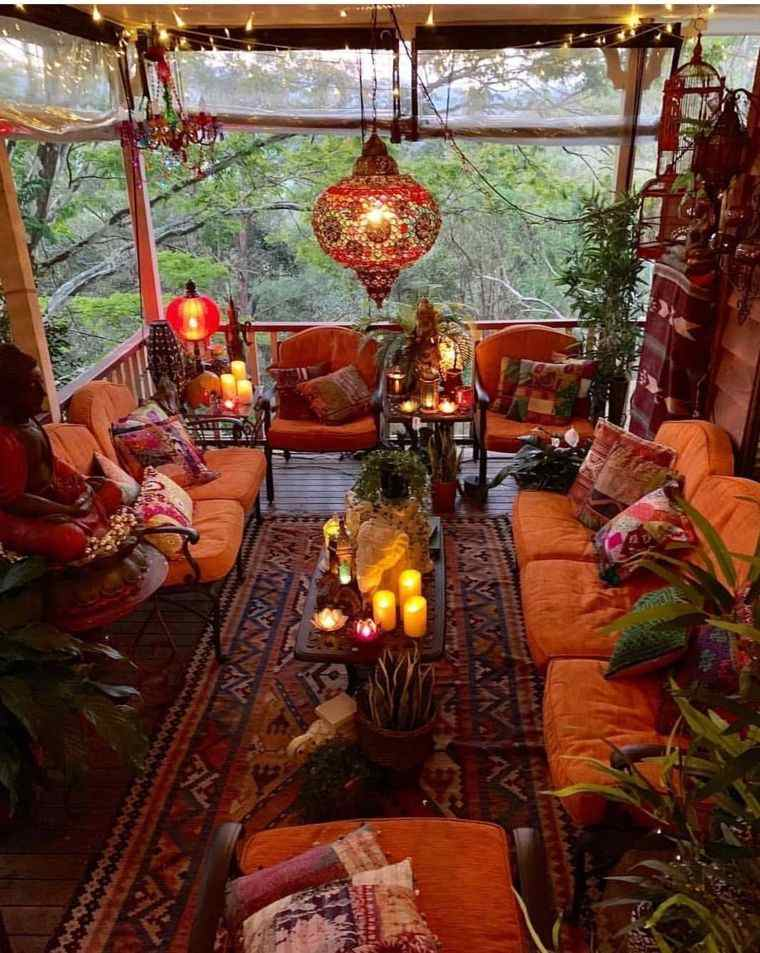 porches con encanto iluminacion