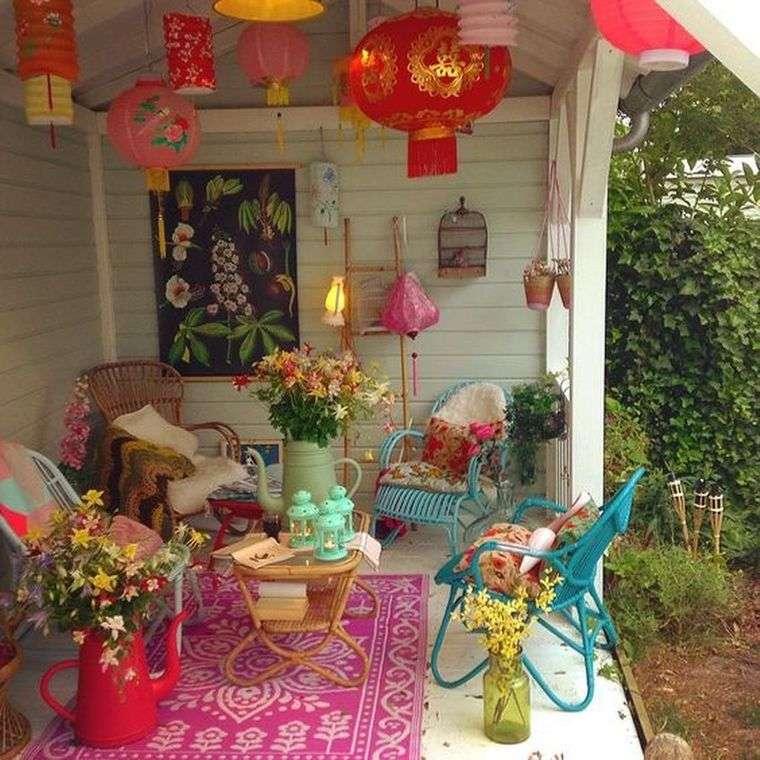 porches con encanto muebles colores