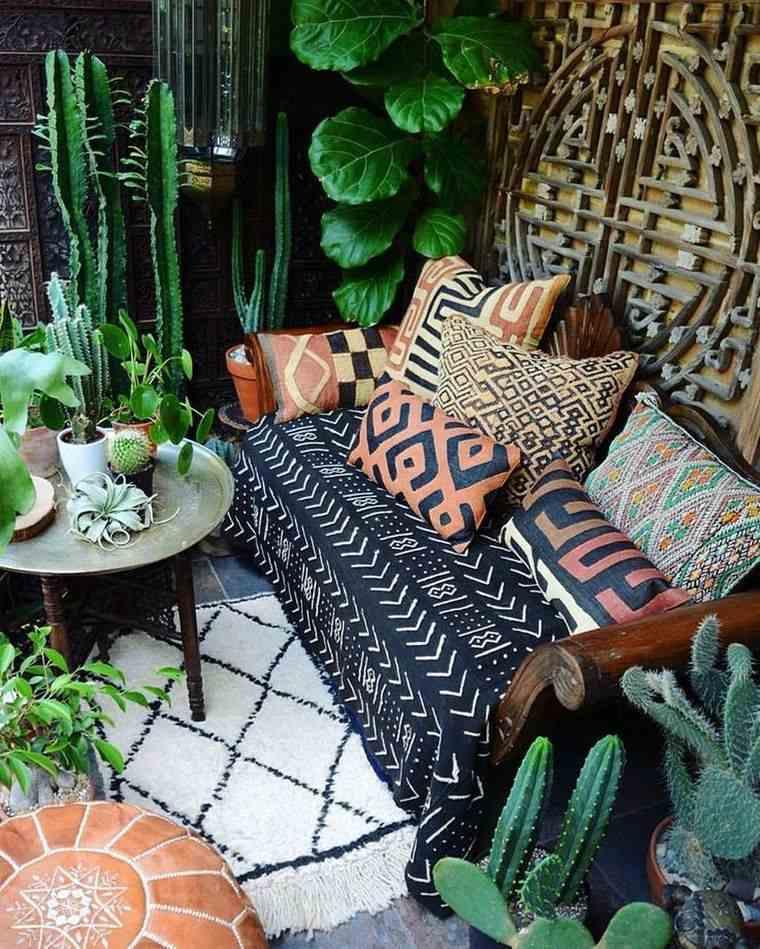 porches con encanto plantas