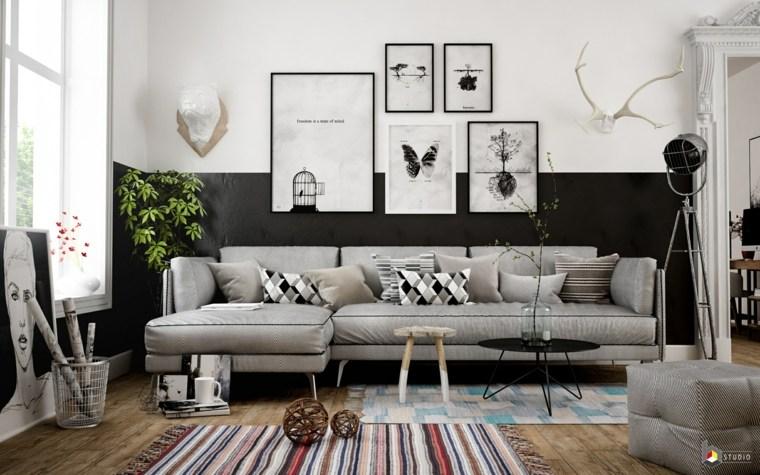salon-estilo-escandinavo-blanco-negro