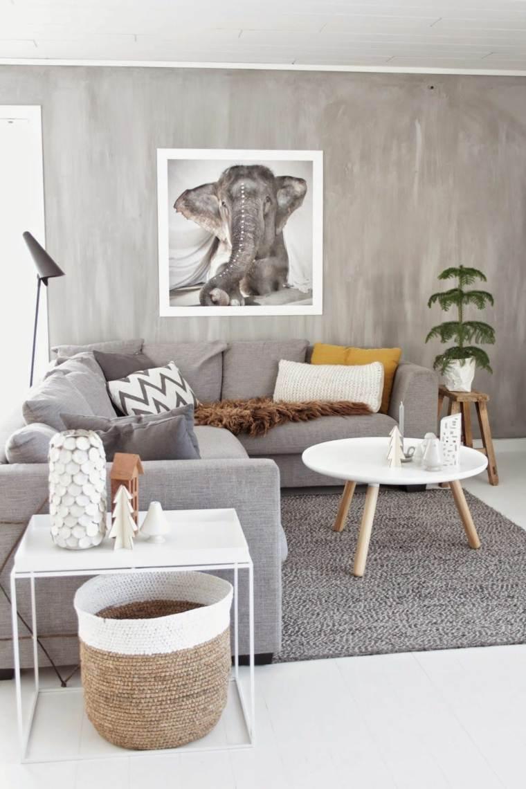 salón estilo escandinavo-color-gris-clarto