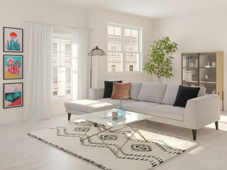salón estilo escandinavo-diseno-blanco