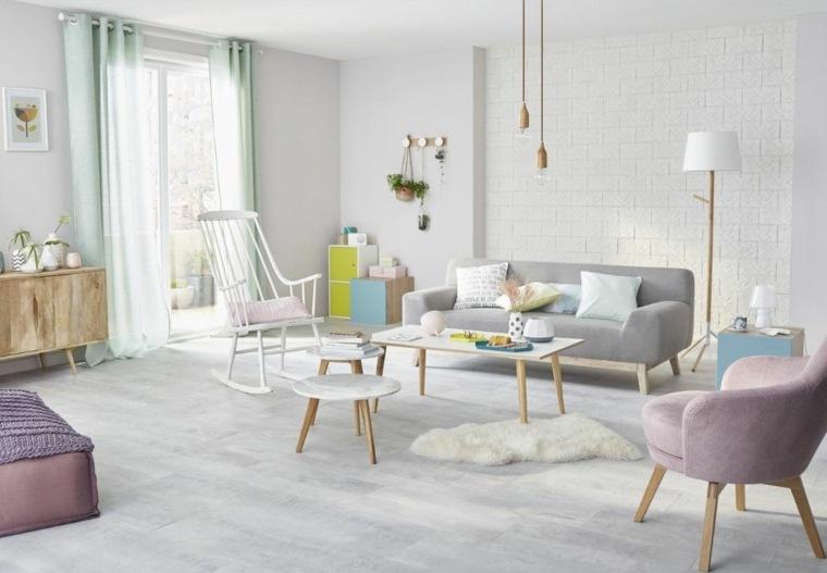 salón estilo escandinavo-roques-pastel