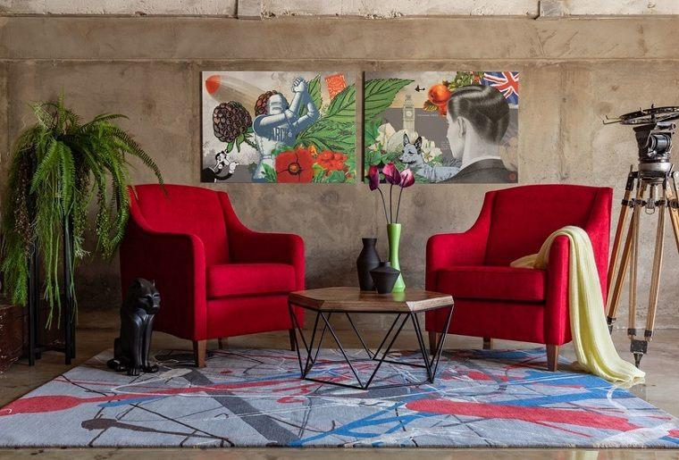 sillones-modernos-color-rojo