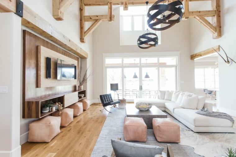 sofa-blanco-salon-escandinavo-estilo