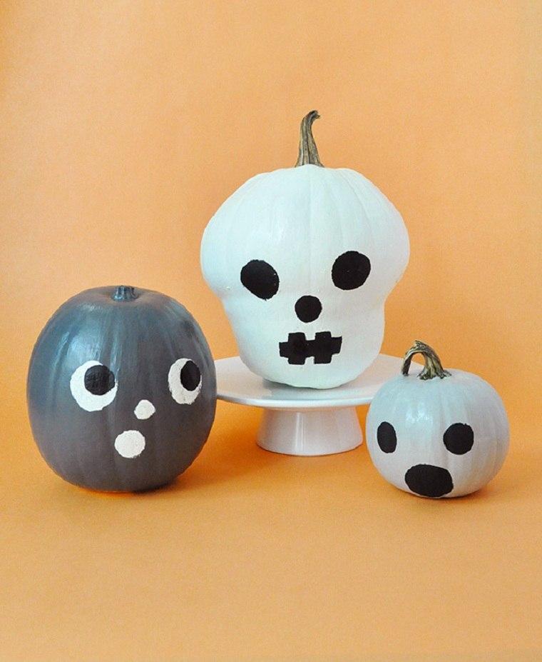Calabazas-de-halloween-pintadas-caras