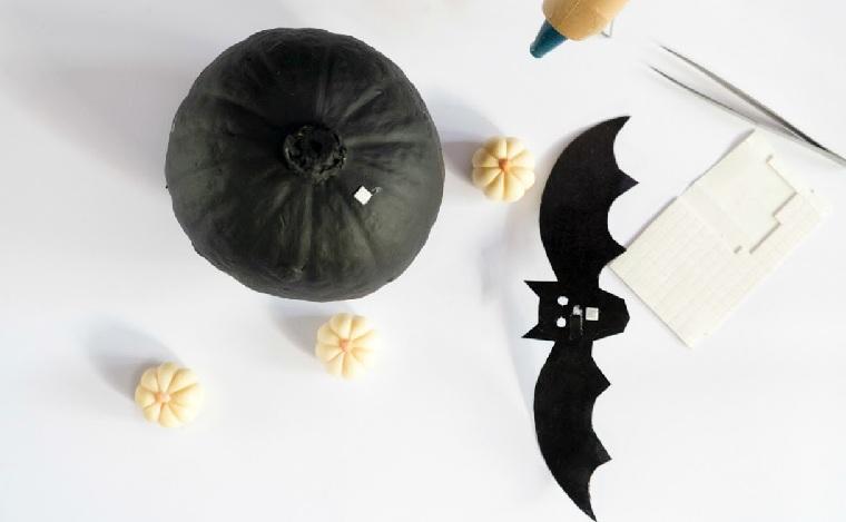 Calabazas-de-halloween-pintadas-negro-blanco