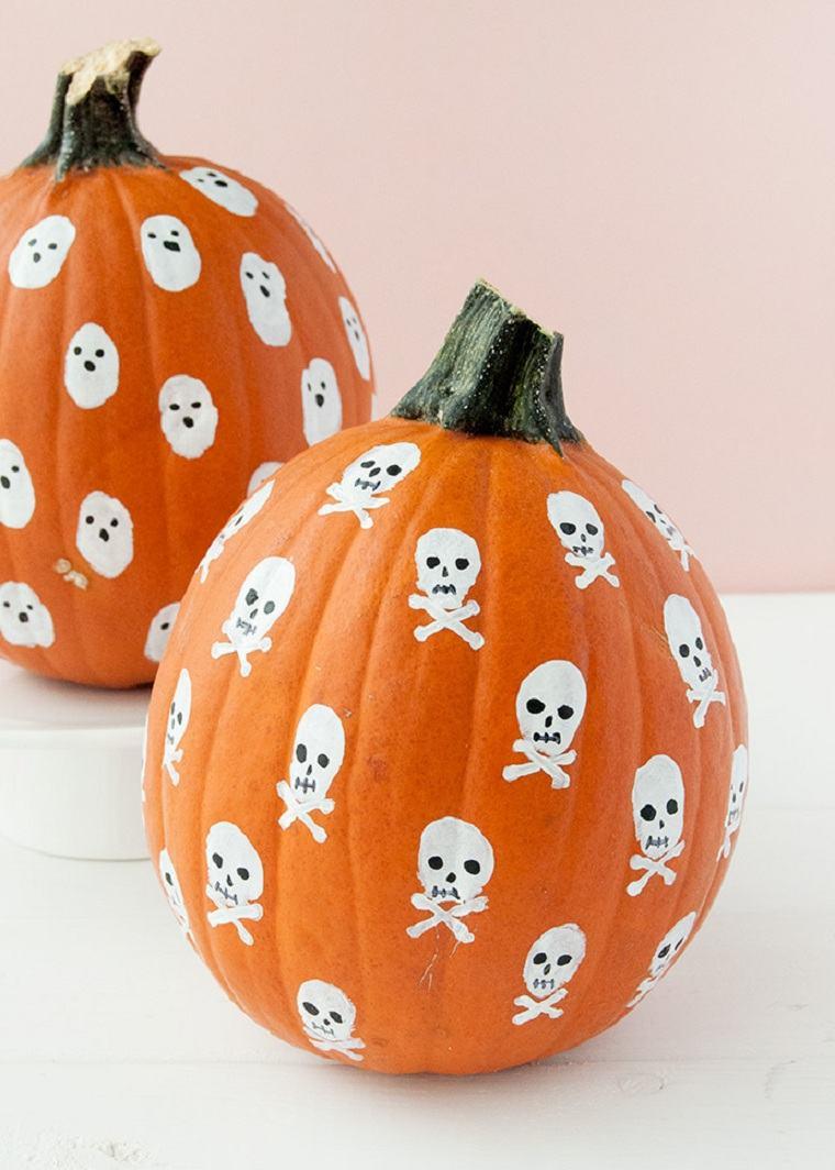 Calabazas de halloween pintadas -pintar-opciones