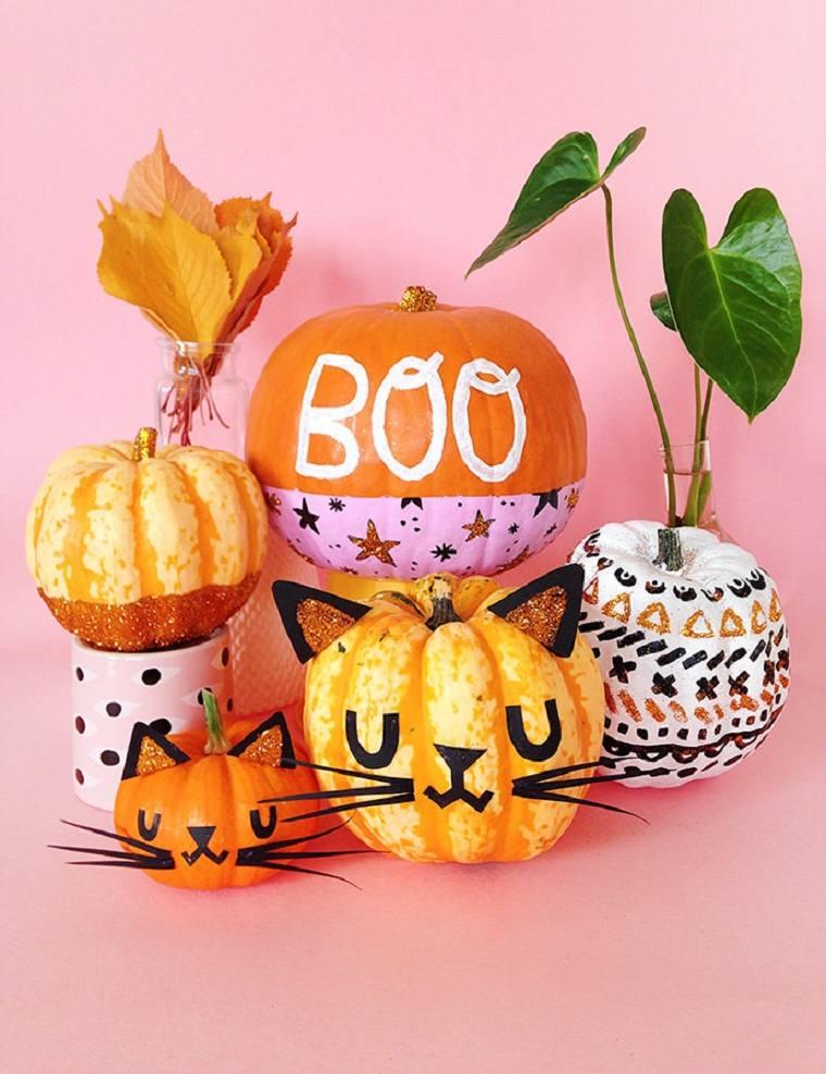 Calabazas de halloween pintadas -pintar