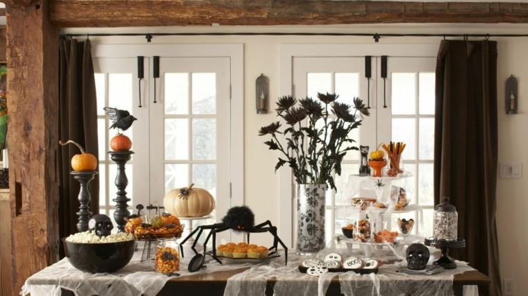 Centros de mesa de Halloween-comedor