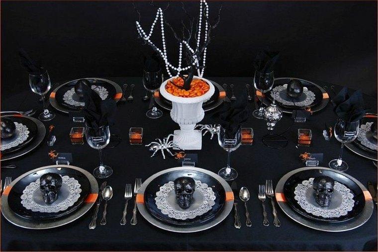 Centros-de-mesa-de-Halloween-negro-naranja