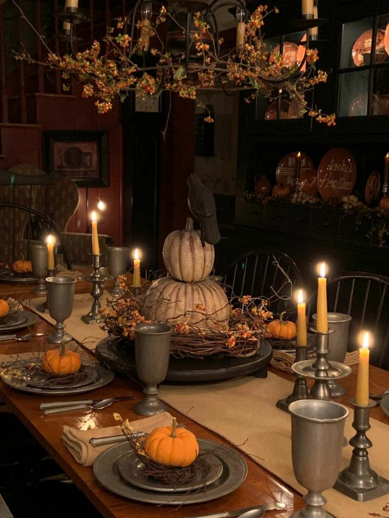 Centros-de-mesa-de-Halloween-valabazas velas