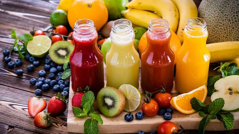 alimentos caloricos jugos frutas