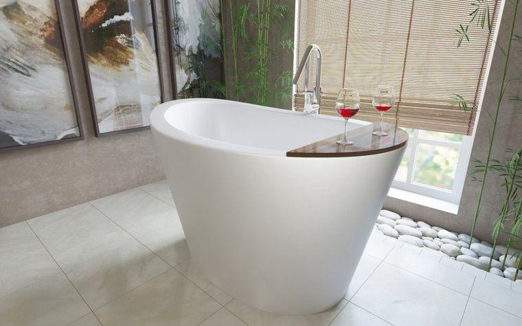 bañeras japonesas en blanco