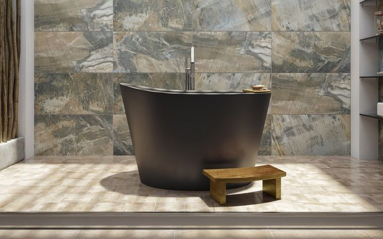 bañeras japonesas en negro