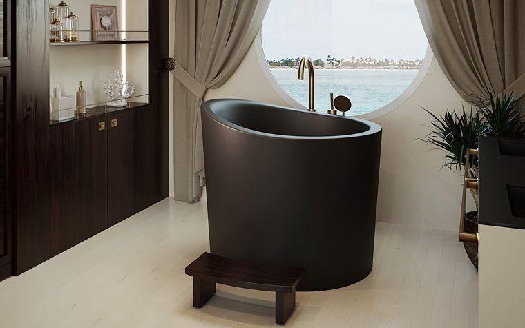 bañeras japonesas minimalistas