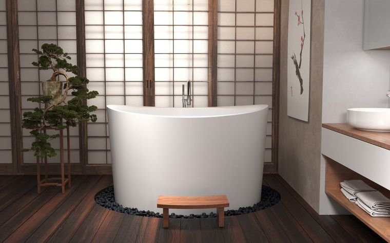 bañeras japonesas modernas