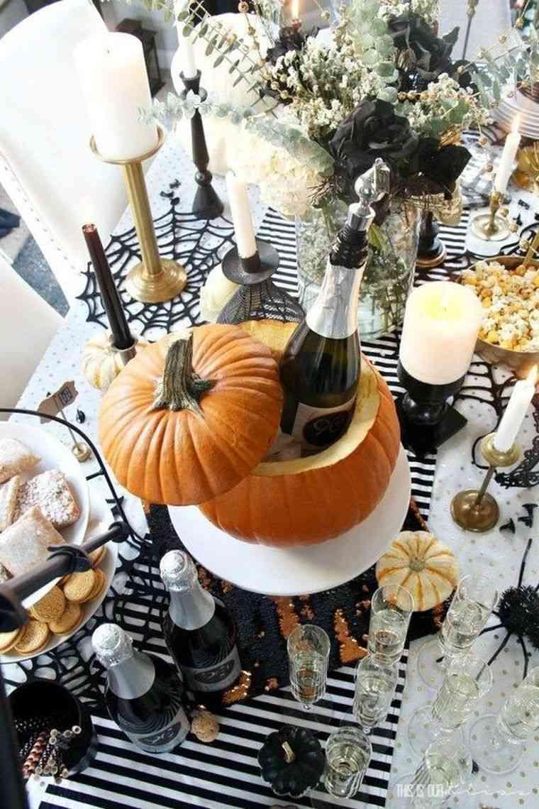 calabaza-botella-mesa-halloween