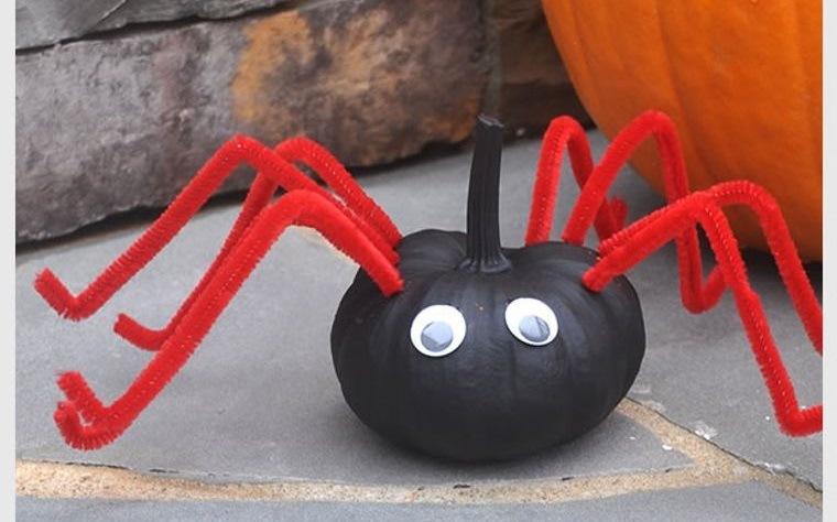 calabazas decoradas araña