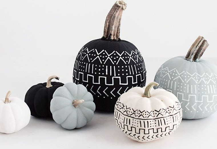 calabazas decoradas elegantes
