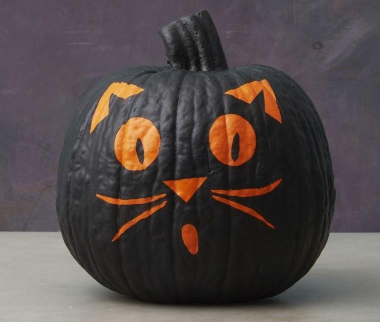 calabazas decoradas gato negro