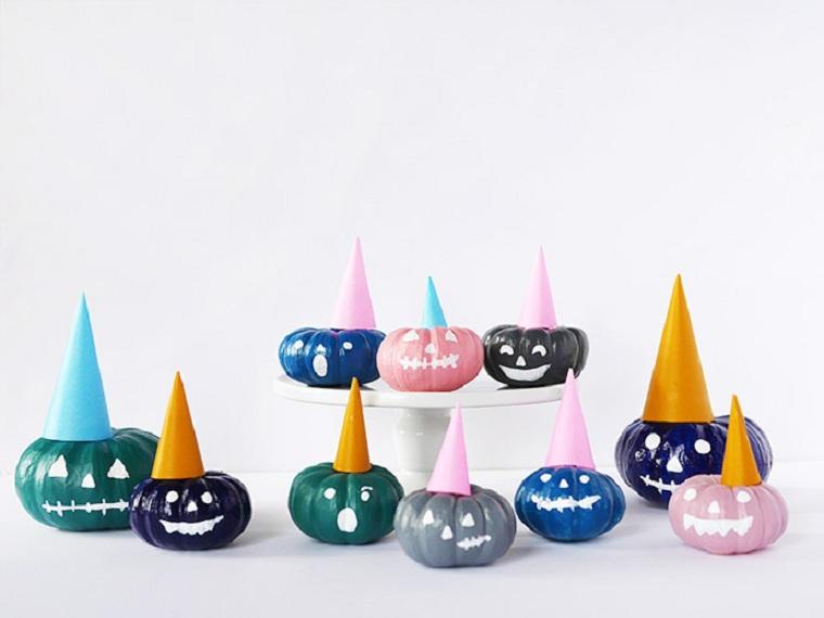 calabazas-pintadas-halloween-decorar