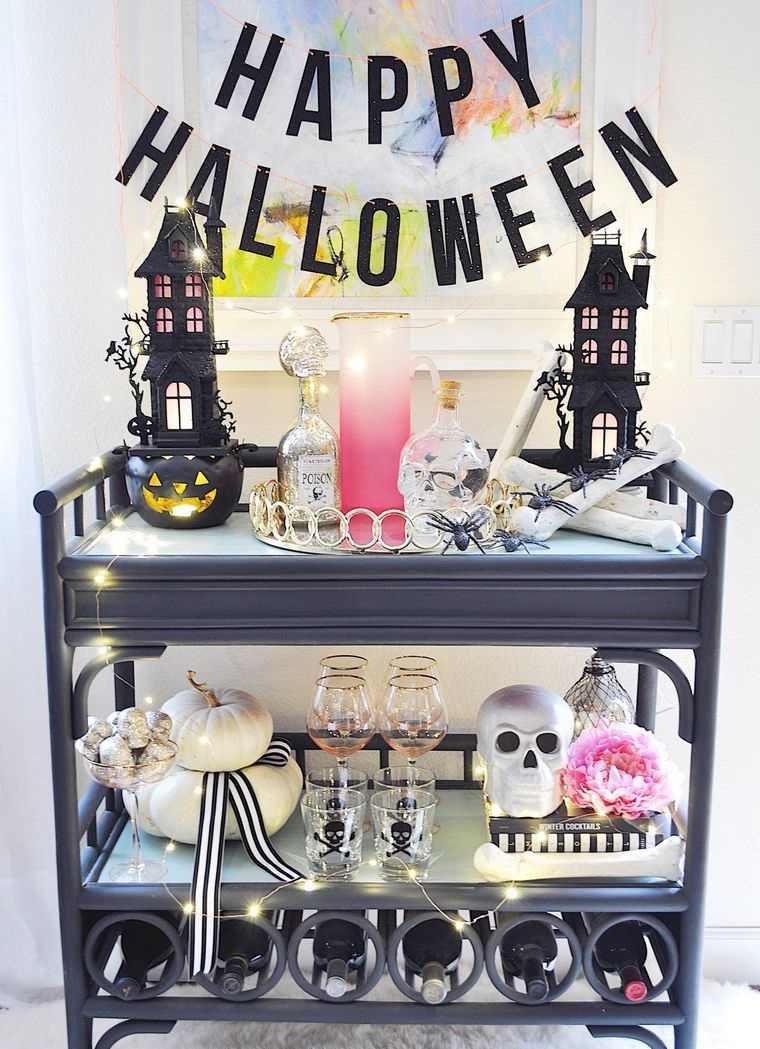 carritos de bar de halloween