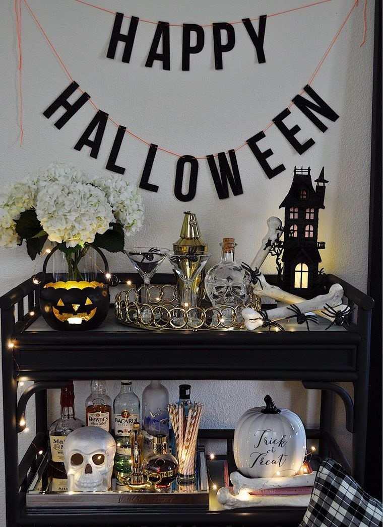 carritos de bar decorado halloween