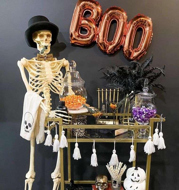 carritos de bar disfrute de halloween