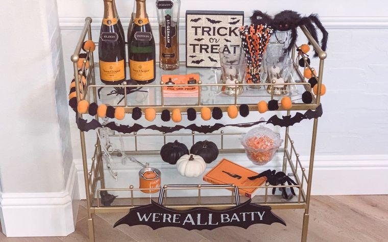 carritos de bar elementos halloween