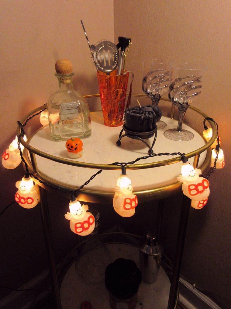 carritos de bar en halloween